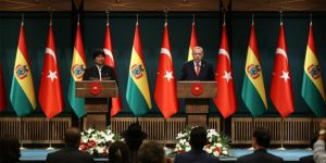 President Erdoğan thanks Bolivia for the support it gives to the Palestinian cause