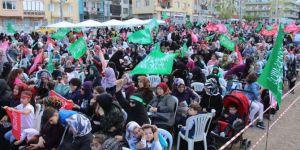 Peygamber aşıkları İzmir'deki etkinlikten memnun ayrıldı