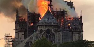 Fire at the historic Notre Dame Cathedral
