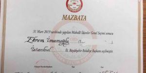 Ekrem İmamoğlu receives mandate for Istanbul mayor