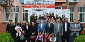 Siirt'te Kadın çiftçiler projesi hayata geçirildi