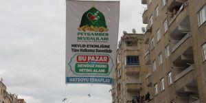 Diyarbakır'da esnaftan Mevlid etkinliğine davet afişi