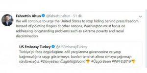 Fahrettin Altun'dan ABD Büyükelçiliği'ne tepki