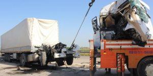 Nusaybin'de TIR'ın kupası koptu: 1 yaralı