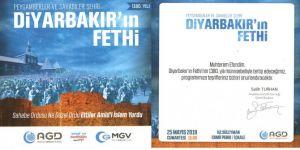 Anadolu Gençlik Derneği Diyarbakır'ın fethini kutlayacak