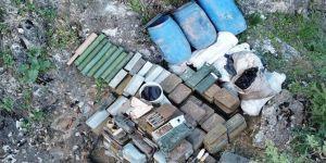 Yüksekova'da PKK'ye ait çok sayıda mühimmat ele geçirildi