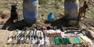 Başkale'de PKK'ye ait çok sayıda mühimmat ele geçirildi