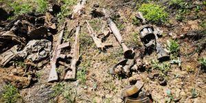 Çukurca'da PKK'ye ait çok sayıda mühimmat ele geçirildi