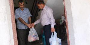 Hayırsever iş adamlarından Bismil'de ihtiyaç sahibi ailelere Ramazan kolisi