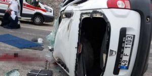 Karlıova'da kaza: 1 ölü 2 yaralı