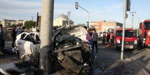 Nusaybin'de iki otomobilin karıştığı kazada 1 kişi yaralandı