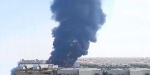 Çayırova'da tekstil fabrikasında büyük yangın