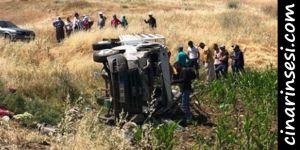 Bismil Tepe'de tarım işçilerini taşıyan kamyonet devrildi: 35 yaralı