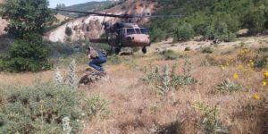 Bingöl'de kayalıktan düşen vatandaş helikopterle hastaneye kaldırıldı