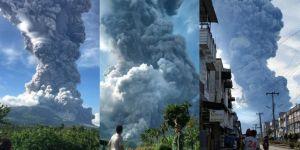 Endonezya'daki Sinabung yanardağı patladı