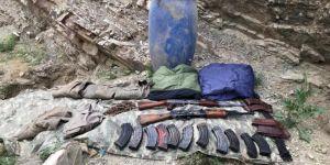 Başkale'de PKK'ye ait silah ve mühimmat ele geçirildi