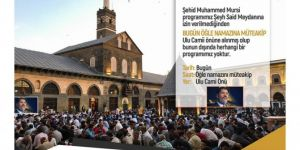Mass press release to be held for Shaheed Muhammad Morsi in Diyarbakır
