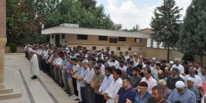Şehit Mursi için Birecik'te gıyabı cenaze namazı kılındı