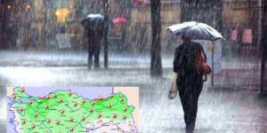 Meteorolojîyê ji bo 8 bajaran hişyarîya barana zêde kir