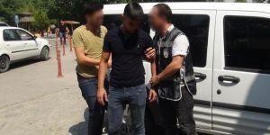 Mardin Kızıltepe'de kaldırımdaki ağacı kıran zanlı gözaltına alındı