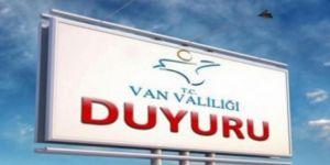Van'da 15 gün boyunca tüm etkinlikler yasaklandı