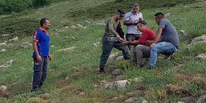 Yayladere'de Sülbüs dağından yuvarlanan şahsı AFAD ekipleri kurtardı