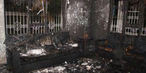 Midyat'taki yangında ev kullanılamaz hale geldi