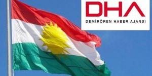 DHA'dan Kürdistan bayrağı hazımsızlığı