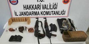 Şemdinli'de PKK operasyonunda mühimmat el geçirildi