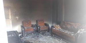 Kâhta'da çıkan yangında ev kullanılmaz hale geldi