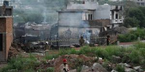 Military plane crashes into homes in Pakistan: 17 dead