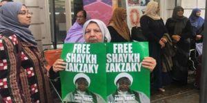 Londra'da Şeyh Zakzaki'ye destek için oturma eylemi