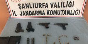Suruç'ta 2 adet tabanca ele geçirildi