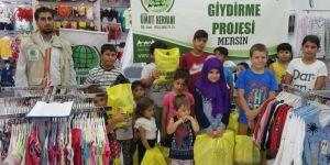 Mersin Umut Kervanı'ndan yetim çocuklara bayramlık