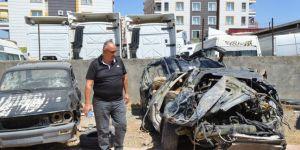 Siirt'te bir şahıs kiraladığı aracı Botan Çayına attı