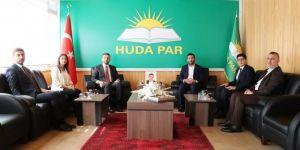 AK Parti ve Saadet Partisinden HÜDA PAR'a taziye ve bayram ziyareti