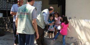 IHO-EBRAR Suriyeli ailelere kurban eti dağıttı