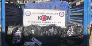 Kurtalan'da 15 bin paket gümrük kaçağı sigara ele geçirildi