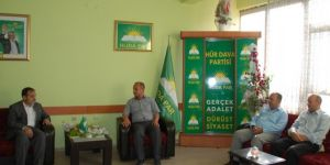 Yeniden Refah Partisi'nden HÜDA PAR Bitlis İl Başkanlığına bayram ve taziye ziyareti
