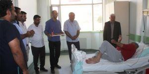 HÜDA PAR Doğubayazıt İlçe Başkanlığından hastalara ziyaret