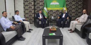 Bağlar Belediye Başkanı Beyoğlu'dan HÜDA PAR'a taziye ziyareti