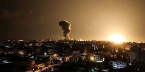 Occupying zionists launch airstrikes on Gaza