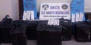 Erciş'te 7 bin 900 paket gümrük kaçağı sigara ele geçirildi