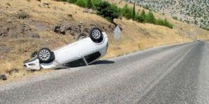 Araban'da kontrolden çıkan araç devrildi: 2'si çocuk 4 yaralı