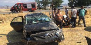 Kovancılar'da köpeğe çarpmamak için direksiyon kıran şahıs kaza yaptı