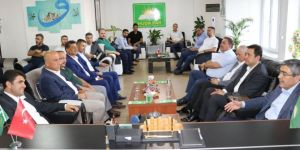 AK Parti'den HÜDA PAR Gaziantep İl Başkan Göçer'e hayırlı olsun ziyareti