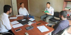 Silopi'de kadrolu kurs öğretici alımı için sınav yapıldı