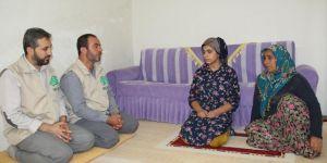 Mağdur ailenin yardımına Umut Kervanı yetişti