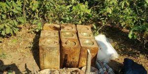 Mutki'de PKK'ye ait 180 kilo patlayıcı madde imha edildi