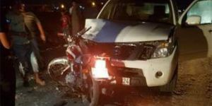 Pikap ile motosiklet kafa kafaya çarpıştı: 2 yaralı
